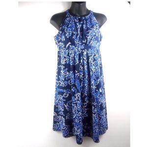 Inc International Concept Blue Floral Dress Sz S